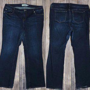 Torrid Mid Rise Boot Cut Jeans 18 - 18R 688
